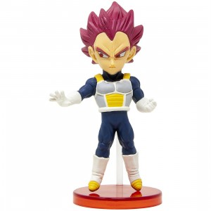 Banpresto Dragon Ball Super Broly World Collectable Figure Vol 1 - 02 Super Saiyan God Vegeta (pink)