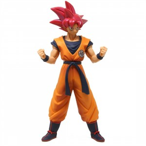 Banpresto Dragon Ball Super the Movie Chokoku Buyuden Super Saiyan God Son Goku Figure (pink)
