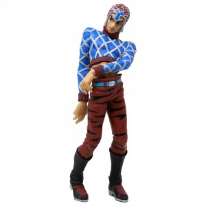 Banpresto JoJo's Bizarre Adventure Golden Wind JoJo's Figure Gallery 6 Guido Mista Figure (blue)