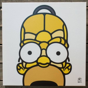 BAIT x David Flores 48 Inch Canvas - Homer 3/4 (yellow)