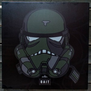 BAIT x David Flores Limited Edition Trooper Canvas Art Print (black / olive)