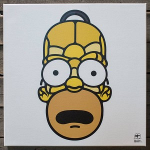 BAIT x David Flores 48 Inch Canvas - Homer Full Head (yellow)