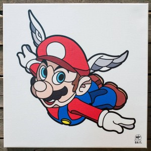 BAIT x David Flores 48 Inch Canvas - Mario (red)