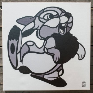 BAIT x David Flores 48 Inch Canvas - Thumper (gray)