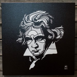 BAIT x David Flores 36 Inch Canvas - Beethoven (black / white)