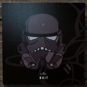 BAIT x David Flores Star Wars 24 Inch Canvas - Shadow Storm Trooper (black)