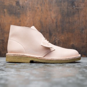 Clarks Men Desert Boot Natural Veg Tan Leather (brown)