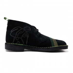 Clarks Men Desert Boot - Jamaica (black / multi)