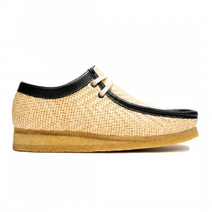 Clarks Men Wallabee (brown / natural raffia)