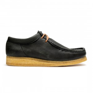 Clarks Men Wallabee (black / black natural leather)
