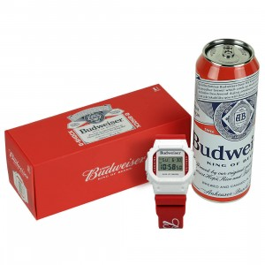 G-Shock Watches x Budweiser DW5600BUD20-7CR Watch (red)