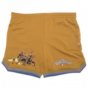 Converse x Bandulu Men Basketball Shorts (brown / wood thrush)
