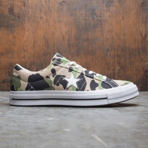 Converse Men One Star Archive Prints Remixed Ox (camo / candied ginger / piquant green / chive)