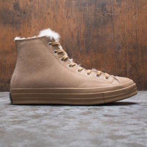 Converse Men Shearling Chuck 70 Hi (brown / iced coffee)