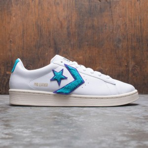 Converse Men Pro Leather Ox (white / deep wisteria / egret)