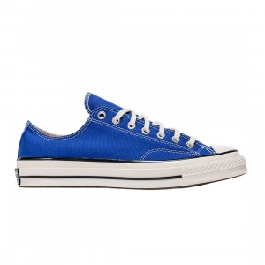 Converse Men Colors Vintage Canvas Chuck 70 Low Ox (blue / rush blue / egret / black)