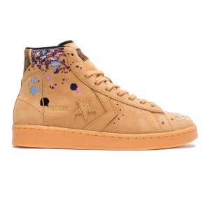 Converse x Bandulu Men Pro Leather Mid (brown / flux / gum light honey)