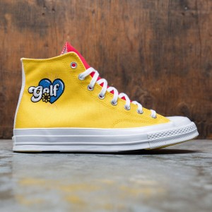 Converse x Golf Wang Tri Panel Men Chuck 70 Hi (blue / yellow / red)