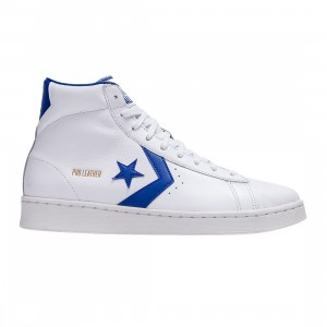 Converse Men Pro Leather Hi (white / rush blue / white)
