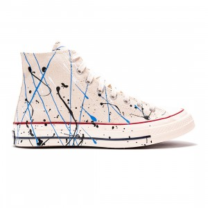 Converse Men Archive Paint Splatter Chuck 70 Hi (white / egret / digital blue)