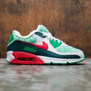 Nike Men Air Max 90 (white / university red-dk atomic teal)