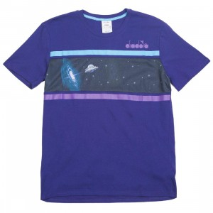Diadora x Rick And Morty Men Intergalactic T-Shirt (purple / blue)