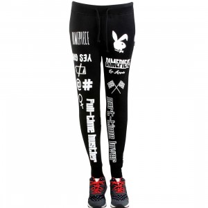 Dimepiece Women Verbage Sweatpants (black)