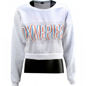 Dimepiece Women Blurred Logo Crop Sweater (white / multi) 1S