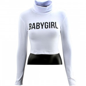 Dimepiece Women Babygirl Turtleneck Sweater (white)
