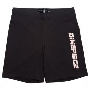 Dimepiece Women Nude Logo Biker Shorts (black)