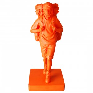 PREORDER - Medicom x Mountain Mans By Mountain Research Henry David Thoreau Orange 1/6 Vinyl Figure (orange)