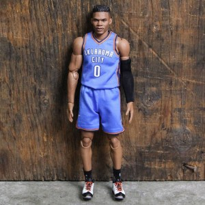 NBA x Enterbay Russell Westbrook 1 9 Scale 9 Inch Figure (blue) 07efbd0ea
