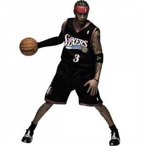 NBA x Enterbay Allen Iverson 1/6 Scale 12 Inch Figure (black)
