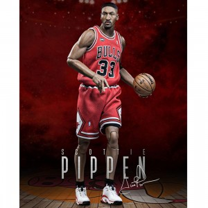 NBA x Enterbay Scottie Pippen 1/6 Scale 12 Inch Figure (red)