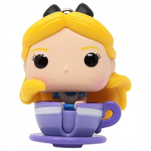 Funko Pocket POP Disney 65th Anniversary The Mad Tea Party Attraction With Alice Keychain (yellow)