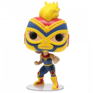 Funko POP Marvel Lucha Libre Edition - Captain Marvel La Estrella Cosmica (blue)