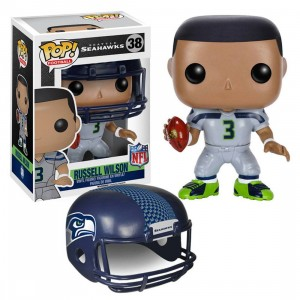 Funko POP NFL: Wave 2 - Seattle Seahawks Russell Wilson (gray)