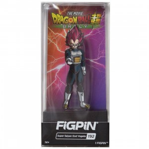 FiGPiN Dragon Ball Super Broly Movie Super Saiyan God Vegeta #192 (red)