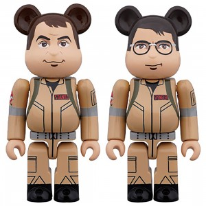 PREORDER - Medicom Ghostbusters Raymond Stantz And Egon Spengler 100% 2 Pack Bearbrick Figure Set (tan)