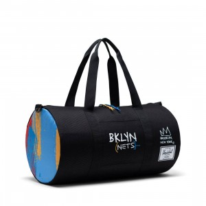 Herschel Supply Co x NBA Brooklyn Nets Sutton Mid 600 Duffel Bag (black)