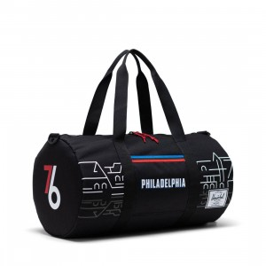 Herschel Supply Co x NBA Philadelphia 76ers Sutton Mid 600 Duffel Bag (black)