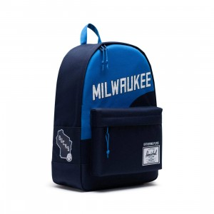 Herschel Supply Co x NBA Milwaukee Bucks Classic XL 600D Bag (navy / bucks)