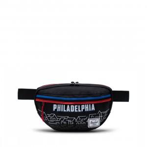 Herschel Supply Co x NBA Philadelphia 76ers Nineteen 600D Hip Bag (black)