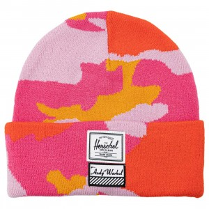 Herschel Supply Co x Andy Warhol Elmer Acrylic Beanie (pink / pink camo)