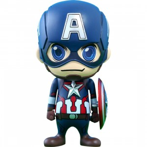Hot Toys Captian America Avengers Age of Ultron Cosbaby Series 1 4 inches Vinyl Figure (blue)