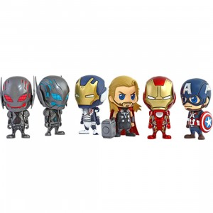 Hot Toys Avengers Age of Ultron Cosbaby Series 1 Set of 6 4 inches Vinyl Figure (multi)
