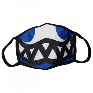 Ice Cream Grin Mask (blue / nautical)