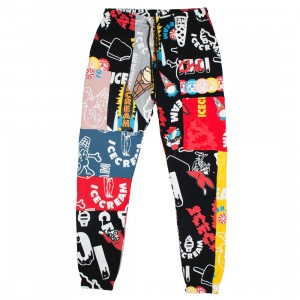 Ice Cream Men Coalition Sweatpants (black / print)