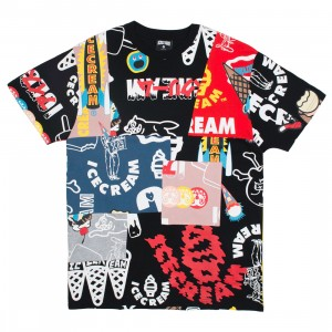 Ice Cream Men Tag Team Knit Tee (black / print knit)