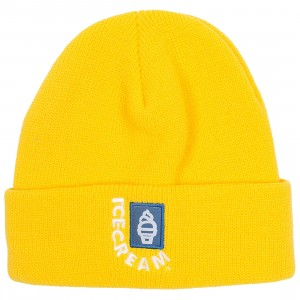 Ice Cream Header Knit Beanie (yellow)